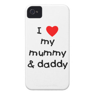 I Love My Mummy & Daddy iPhone 4 Covers