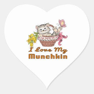 I Love My Munchkin Heart Sticker