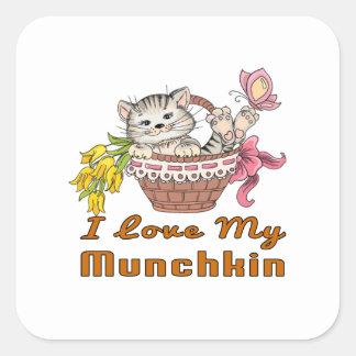 I Love My Munchkin Square Sticker