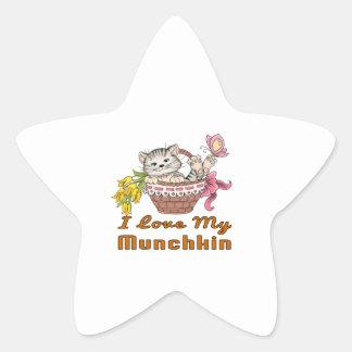I Love My Munchkin Star Sticker