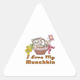 I Love My Munchkin Triangle Sticker