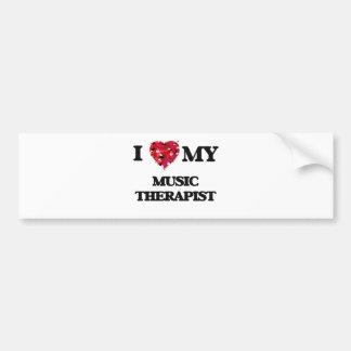 I love my Music Therapist Bumper Sticker