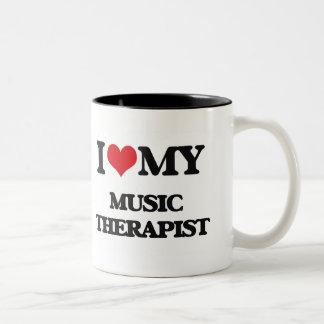 I love my Music Therapist Two-Tone Coffee Mug