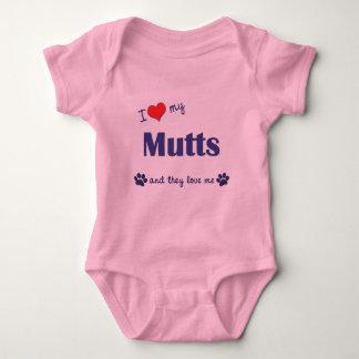 I Love My Mutts (Multiple Dogs) Baby Bodysuit