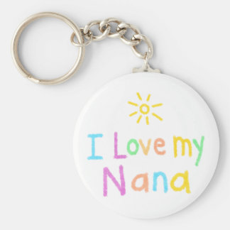 I Love My Nana Keychain