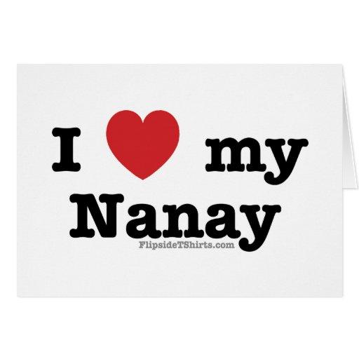 I Love My Nanay Greeting Card