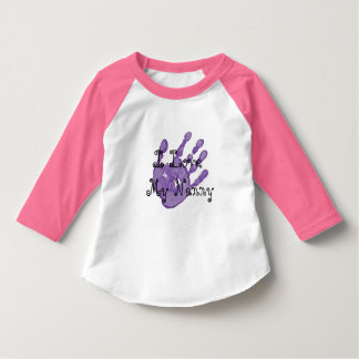 I love my Nanny-purple hand T-Shirt