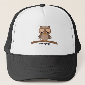 I love my naps owl trucker hat