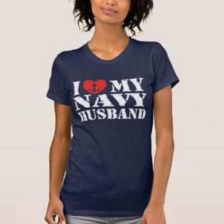 I Love My Navy Husband Shirts