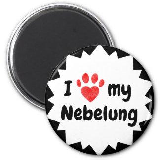 I Love My Nebelung Cat Magnet