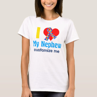 I Love My Nephew Autism Awareness T-Shirt