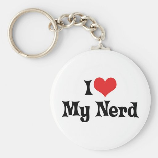 I Love My Nerd Keychain