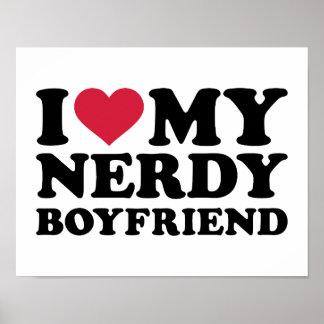 I love my nerdy boyfriend print