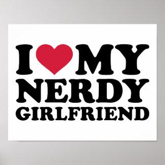 I love my nerdy girlfriend print