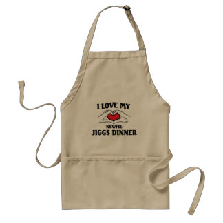 I love my newfie jiggs dinner adult apron