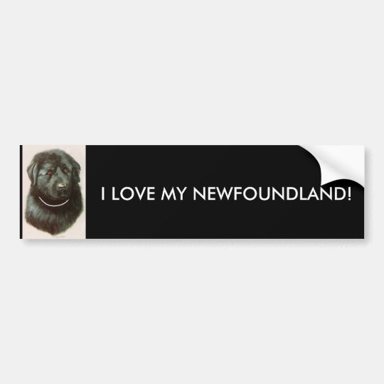 I LOVE MY NEWFOUNDLAND! BUMPER STICKER