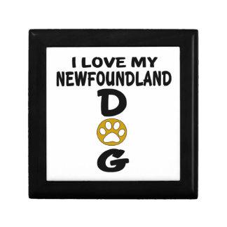 I Love My Newfoundland Dog Designs Gift Box