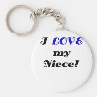 I Love my Niece Keychain