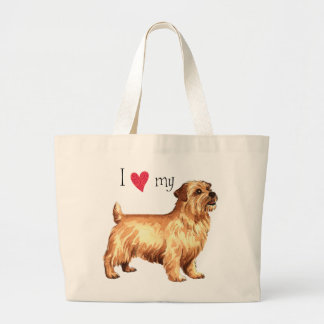 I Love my Norfolk Terrier Large Tote Bag