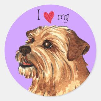 I Love my Norfolk Terrier Round Sticker