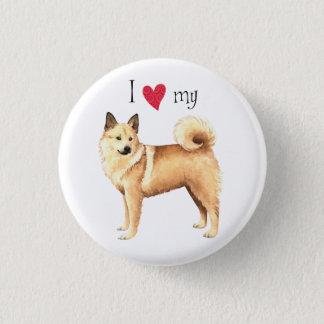 I Love my Norwegian Buhund 1 Inch Round Button