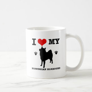 I Love my Norwegian Elkhound Classic White Coffee Mug