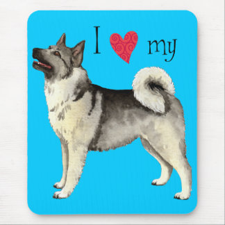 I Love my Norwegian Elkhound Mouse Pad