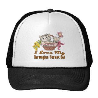 I Love My Norwegian Forest Cat Trucker Hat