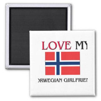 I Love My Norwegian Girlfriend Magnet