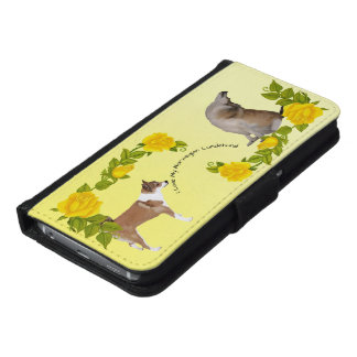 I Love My Norwegian Lundehund with Yellow Roses Samsung Galaxy S6 Wallet Case