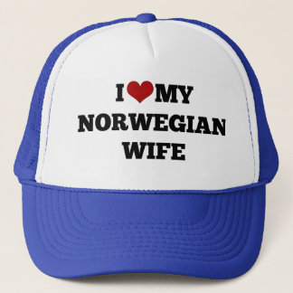 I Love My Norwegian Wife Trucker Hat
