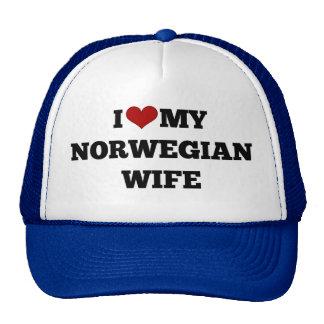 I Love My Norwegian Wife Trucker Hat