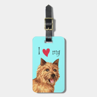 I Love my Norwich Terrier Bag Tag