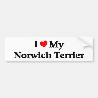 i love my Norwich Terrier Bumper Sticker