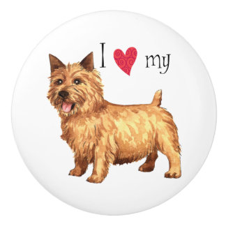 I Love my Norwich Terrier Ceramic Knob