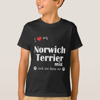 I Love My Norwich Terrier Mix (Female Dog) T-Shirt