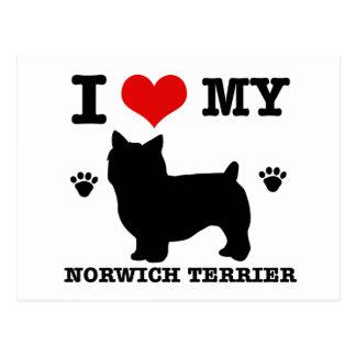 I Love my Norwich Terrier Postcard