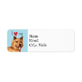 I Love my Norwich Terrier Return Address Label