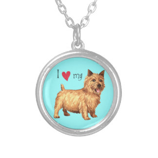 I Love my Norwich Terrier Round Pendant Necklace