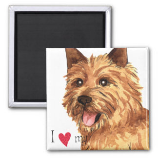 I Love my Norwich Terrier Square Magnet