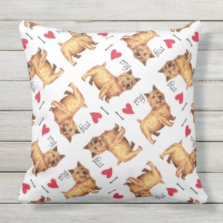 I Love my Norwich Terrier Throw Pillow