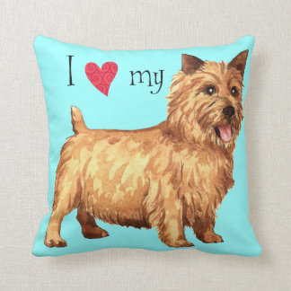 I Love my Norwich Terrier Throw Pillows
