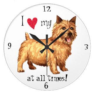 I Love my Norwich Terrier Wallclocks