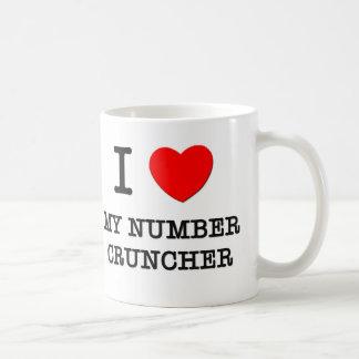 I Love My Number Cruncher Coffee Mug