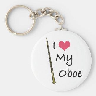 I Love My Oboe Basic Round Button Keychain