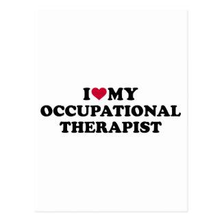 I love my occupational therapist postcard