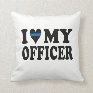 I LOVE MY OFFICER! THROW PILLOW