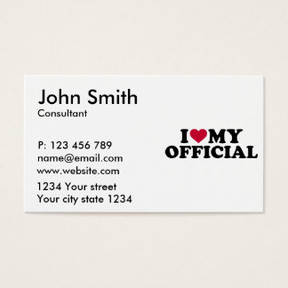 I love my official business card