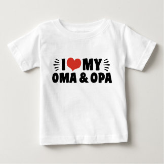 I Love My Oma And Opa Baby T-Shirt