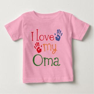 I Love My Oma Gift Handprints Baby T-Shirt